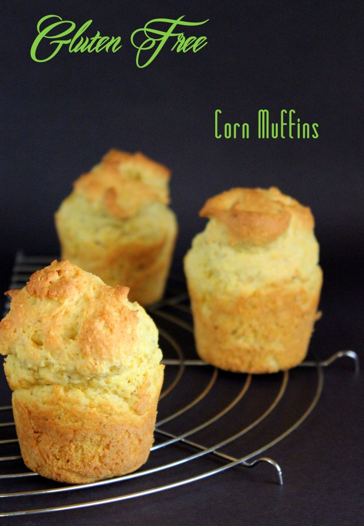 GF creme fraise corn muffins